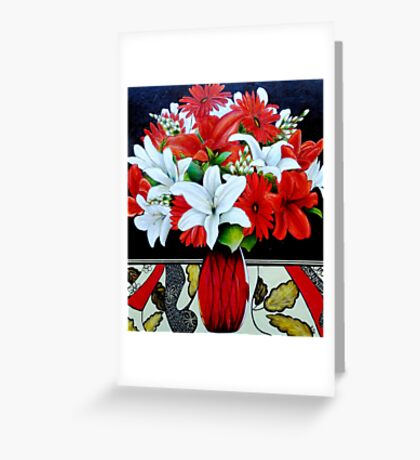 Fabulously Red (Oil Painting) Greeting Card