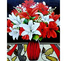 Fabulously Red (Oil Painting) Photographic Print