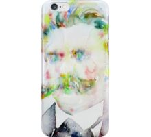 FRIEDRICH NIETZSCHE watercolor portrait.7 iPhone Case/Skin
