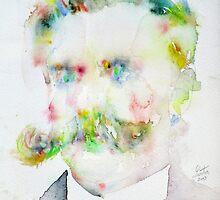 FRIEDRICH NIETZSCHE watercolor portrait.7 by lautir
