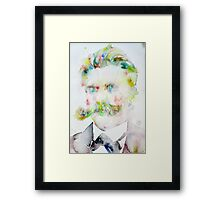 FRIEDRICH NIETZSCHE watercolor portrait.7 Framed Print