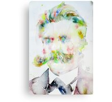FRIEDRICH NIETZSCHE watercolor portrait.7 Canvas Print