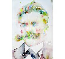 FRIEDRICH NIETZSCHE watercolor portrait.7 Photographic Print