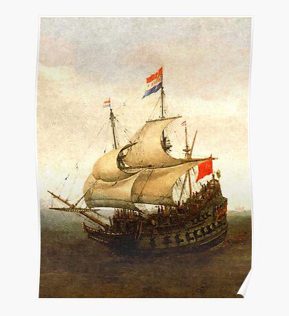 Combat sailboat Poster