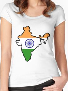 India Women's Fitted Scoop T-Shirt