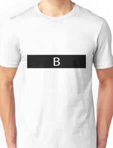 Alphabet Collection - Bravo Black Unisex T-Shirt