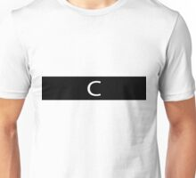Alphabet Collection - Charlie Black Unisex T-Shirt