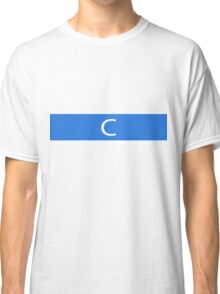 Alphabet Collection - Charlie Blue Classic T-Shirt