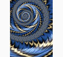 Blue Gold Spiral Abstract Unisex T-Shirt