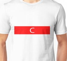 Alphabet Collection - Charlie Red Unisex T-Shirt