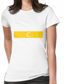 Alphabet Collection - Charlie Yellow Womens Fitted T-Shirt