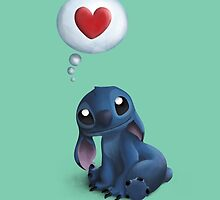 Stitch Loves You. by Nathanael Mortensen