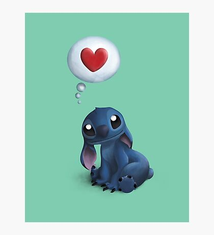 Stitch Loves You. Photographic Print