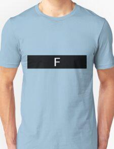 Alphabet Collection - Foxtrot Black T-Shirt
