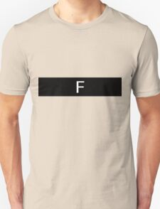 Alphabet Collection - Foxtrot Black Unisex T-Shirt