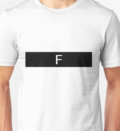 Alphabet Collection - Foxtrot Black Unisex T-Shirt