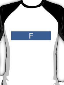 Alphabet Collection - Foxtrot Blue T-Shirt