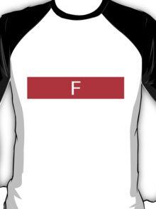 Alphabet Collection - Foxtrot Red T-Shirt