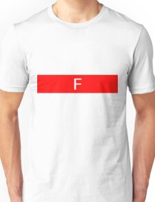 Alphabet Collection - Foxtrot Red Unisex T-Shirt