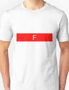 Alphabet Collection - Foxtrot Red T-Shirt