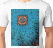Orange and Blue Abstract  Unisex T-Shirt