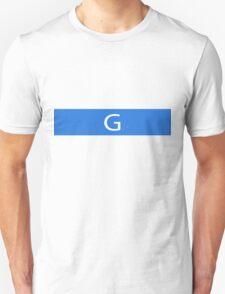Alphabet Collection - Golf Blue Unisex T-Shirt