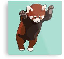 Red Panda Excited Metal Print