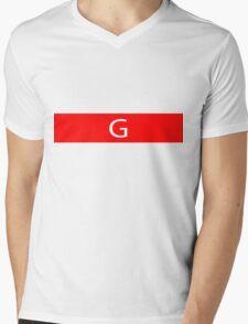 Alphabet Collection - Golf Red Mens V-Neck T-Shirt