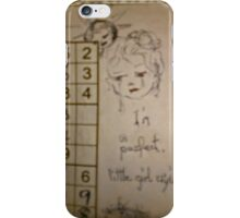 little girl crying iPhone Case/Skin