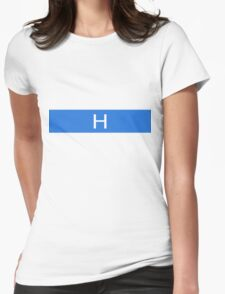 Alphabet Collection - Hotel Blue Womens Fitted T-Shirt