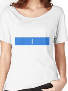 Alphabet Collection - India Blue Women's Relaxed Fit T-Shirt