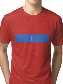 Alphabet Collection - India Blue Tri-blend T-Shirt