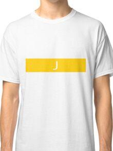 Alphabet Collection - Juliet Yellow Classic T-Shirt