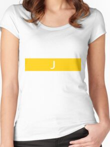 Alphabet Collection - Juliet Yellow Women's Fitted Scoop T-Shirt