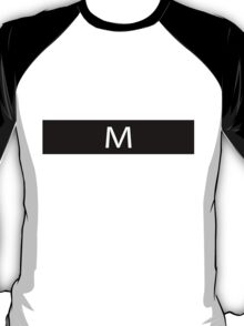 Alphabet Collection - Mike Black T-Shirt