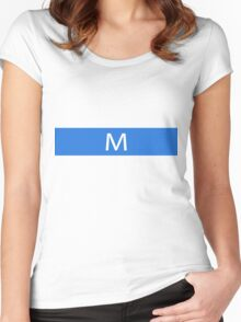 Alphabet Collection - Mike Blue Women's Fitted Scoop T-Shirt