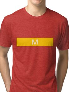 Alphabet Collection - Mike Yellow Tri-blend T-Shirt