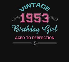 Vintage 1953 Birthday Girl Aged To Perfection Womens Fitted T-Shirt