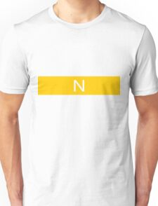 Alphabet Collection - November Yellow Unisex T-Shirt