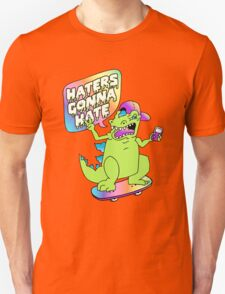"""Haters Gonna Hate"" Reptar (black) Unisex T-Shirt"