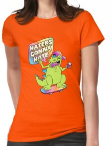 """""""Haters Gonna Hate"""" Reptar (black) Womens Fitted T-Shirt"""