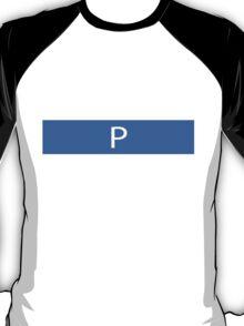 Alphabet Collection - Papa Blue T-Shirt