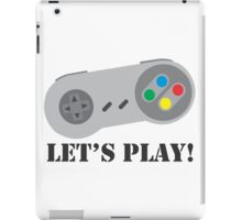 SNES Lets Play iPad Case/Skin