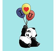 I Love You Panda Photographic Print