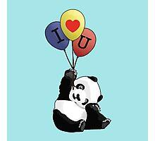 I Love You Panda Photographic Print