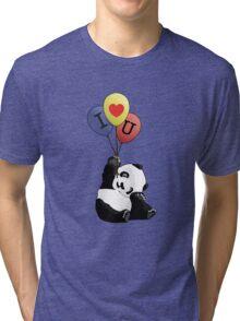 I Love You Panda Tri-blend T-Shirt