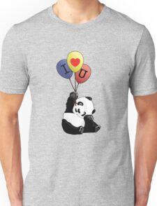I Love You Panda Unisex T-Shirt