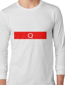 Alphabet Collection - Quebec Red Long Sleeve T-Shirt