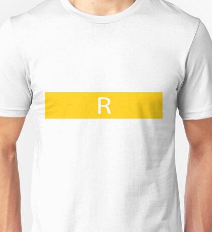 Alphabet Collection - Romeo Yellow Unisex T-Shirt
