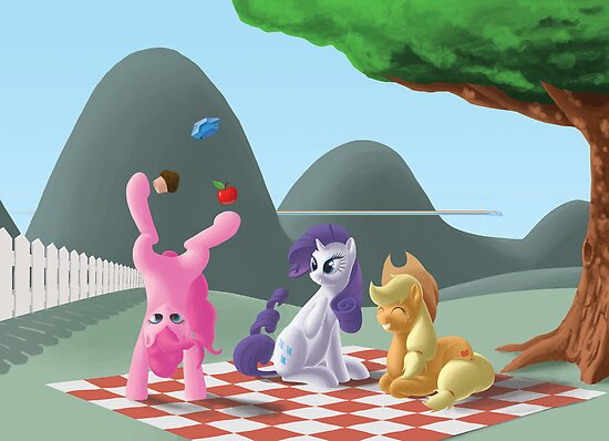A pony picknick in the summer sun by Seapony